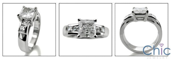 Engagement Princess 1 Ct Center Channel Cubic Zirconia Cz Ring