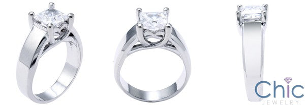Solitaire Princess 1.25 Engagement Lucida Cubic Zirconia Cz Ring