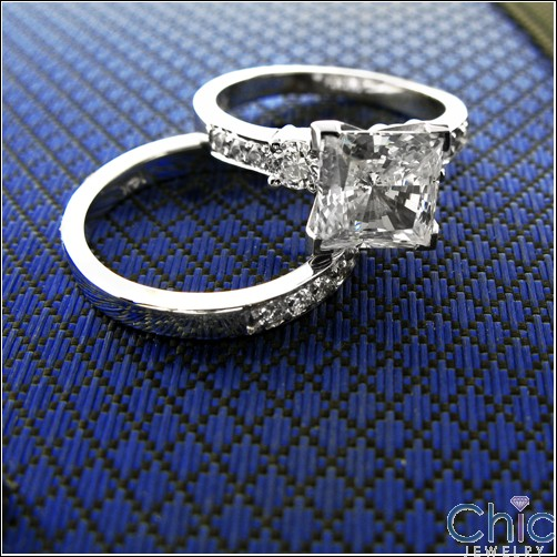 Engagement Princess Center 2 Ct Cubic Zirconia Cz Ring
