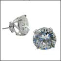 Round Cubic Zirconia Studs Cubic Zirconia CZ Earrings