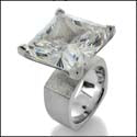 Solitaire Giant Treasure 22 Ct Princess Cubic Zirconia Ring