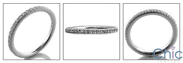 Eternity 2mm Wide .50 Ct Round Cubic Zirconia Cz Ring