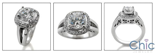Anniversary 1.25 Round Center Open Cubic Zirconia Cz Ring