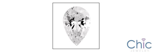 2 Ct Pear Shape Tear Drop Cubic Zirconia CZ Loose stone