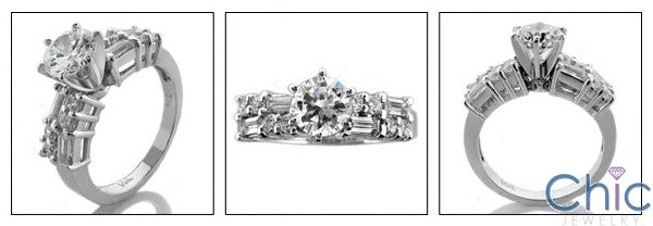 Engagement Finest Quality Round 1 Ct Engagement Ring Cubic Zirconia Cz Ring
