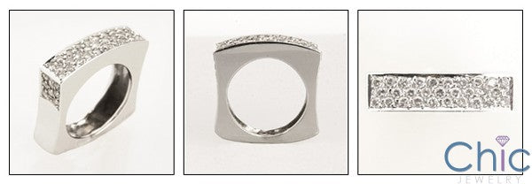 Fine Jewelry Euro Shank Pave Cubic Zirconia Cz Ring