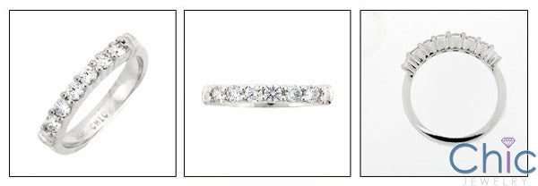 Wedding .35 TCW Round Share Prong Cubic Zirconia CZ Band