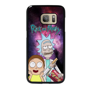coque custodia cover fundas hoesjes j3 J5 J6 s20 s10 s9 s8 s7 s6 s5 plus edge D39611 RICK AND MORTY NEBULA Samsung Galaxy S7 Case