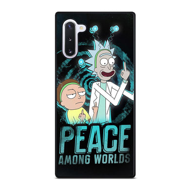 coque custodia cover fundas hoesjes j3 J5 J6 s20 s10 s9 s8 s7 s6 s5 plus edge D39617 RICK AND MORTY PEACE AMONG WORLDS Samsung Galaxy Note 10 Case