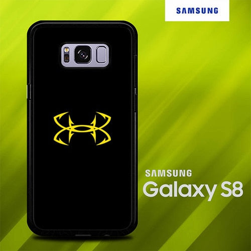 Under Armor Logo Yellow O0854 coque Samsung Galaxy S8