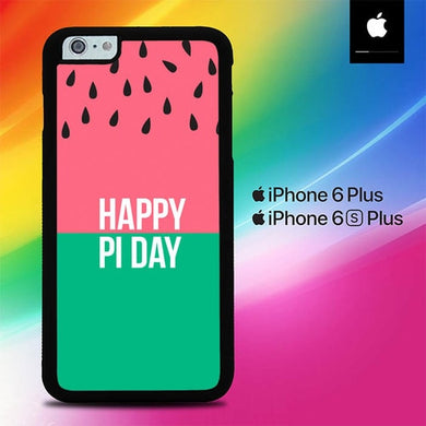 Happy Pi Day Watermelon Pattern O4024 coque iPhone 6 Plus, 6S Plus