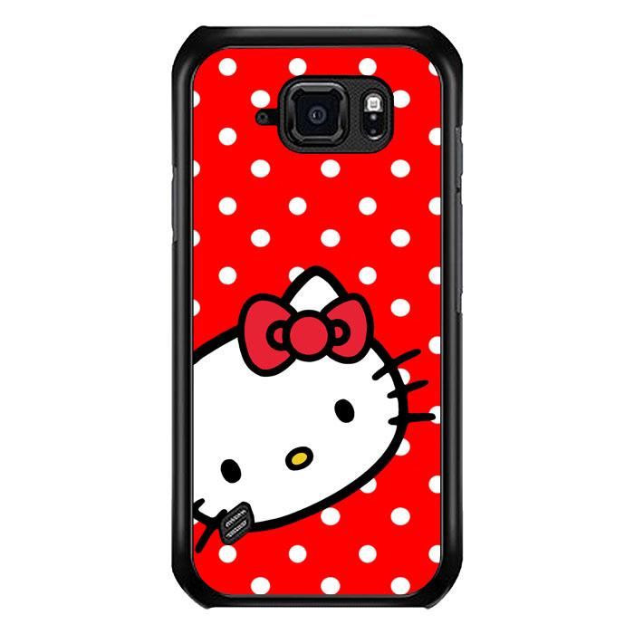 coque custodia cover fundas hoesjes j3 J5 J6 s20 s10 s9 s8 s7 s6 s5 plus edge B21259 H ello Kitty Red Polkadot B0563 Samsung Galaxy S6 Active Case
