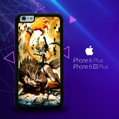 Zelda and wolf twilight princess Z0255 coque iPhone 6 Plus, 6S Plus