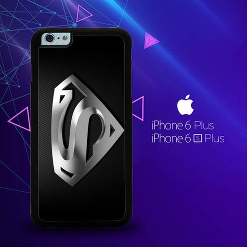 Superman Silver Logo Z1291 coque iPhone 6 Plus, 6S Plus