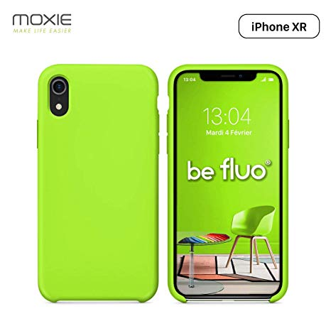 coque iphone xr silicone fluo