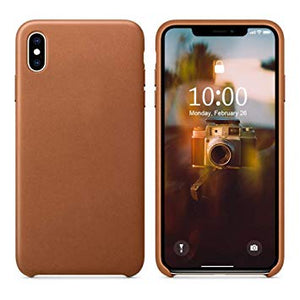 coque iphone xs cuir havane