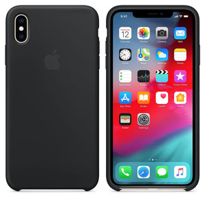 coque iphone xs noir silicone