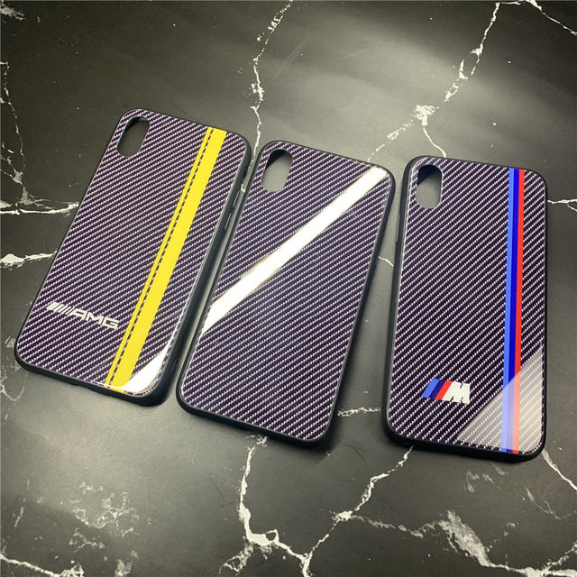 Coque iPhone XS Max AMG Carbone