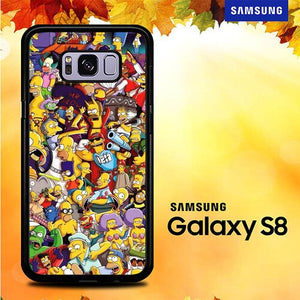 Doodle Simpsons Family P0695 coque Samsung Galaxy S8