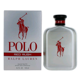 Polo Red Rush by Ralph Lauren, 4.2 oz Eau De Toilette Spray for Men