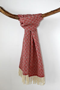 Scarf Flower Red and Grey