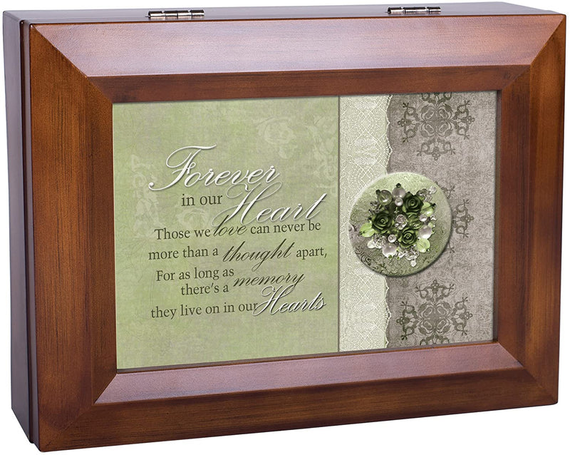 Cottage Garden Forever in Our Hearts Memory Woodgrain Digital Keepsake Music Box Plays I Can Only Imagine