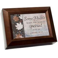 Some Make The World Specials Wood Grain 9 X 7 Mdf Wood Decorative Keepsake Box