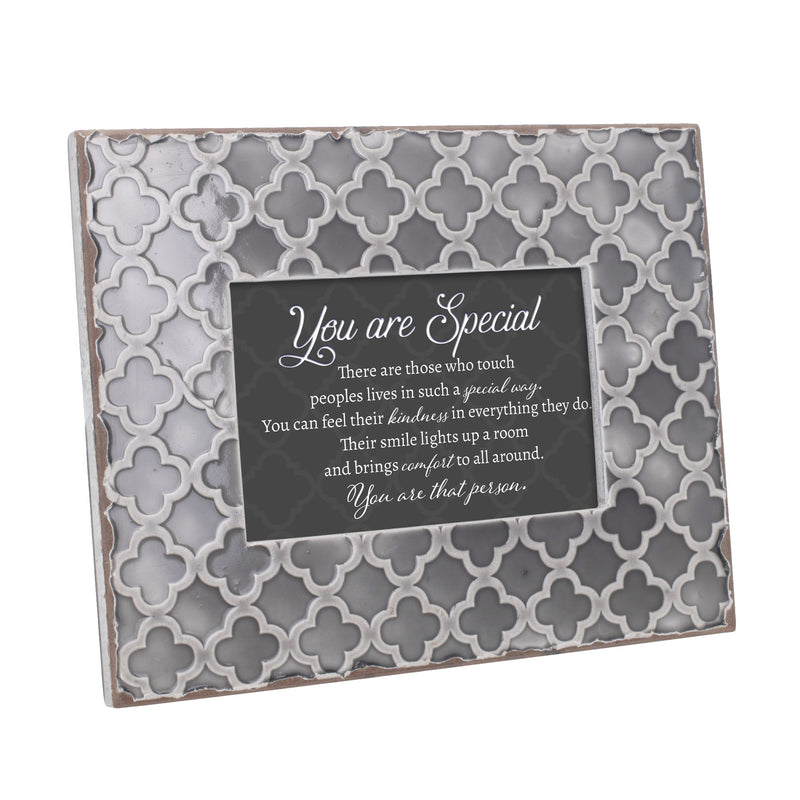 You Are Special Kindness 9.5 x 7.5 Embossed Grey Moroccan Frame, Medium