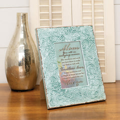 Cottage Garden Mom You are an Amazing Woman Teal Filigree Embossed Wall and Table Top Frame