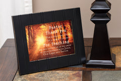 Pastor Thank You 8x10 Black Framed Art Wall Plaque Sign