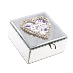 Friend Loves At All Times White 6 x 3 x 8 Music Box Plays Tune Friend In Jesus