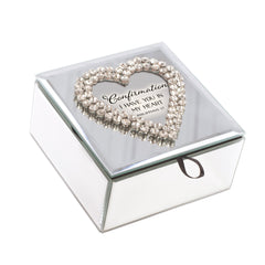 Confirmation In My Heart White 6 x 3 x 8 Music Box Plays Tune Friend In Jesus