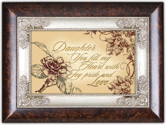 Daughter You Fill My Heart With Joy Burlwood Jewelry Music Box Plays Wind Beneath My Wings