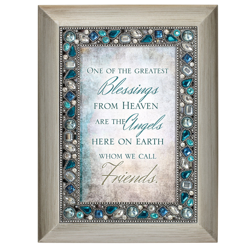 Great Blessings From Heaven Brushed Silvertone Easel Back Photo Frame