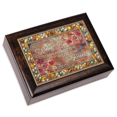 When Life Gives More Than You Can Stand Amber 9 X 7 Mdf Wood Musical Box Plays Tune Amazing Grace