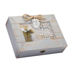 I Love You Mom You Are Amazing Grey Distressed Locket Music Box Plays Wonderful World