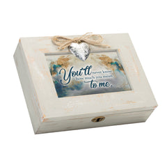 You Mean So Much to Me Wood Distressed Locket Music Box Plays You Are My Sunshine