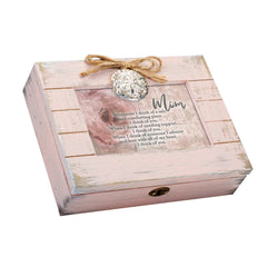 Mom I Need You Admire You Love You Blush Pink Distressed Locket Music Box Plays Wind Beneath My Wings
