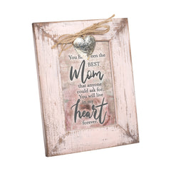 The Best Mom Anyone Could Ask For Blush Pink Distressed Locket Easel Back Picture Frame