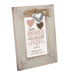 Some People Make World Special Natural Taupe Locket Wood Inspirational Photo Frame