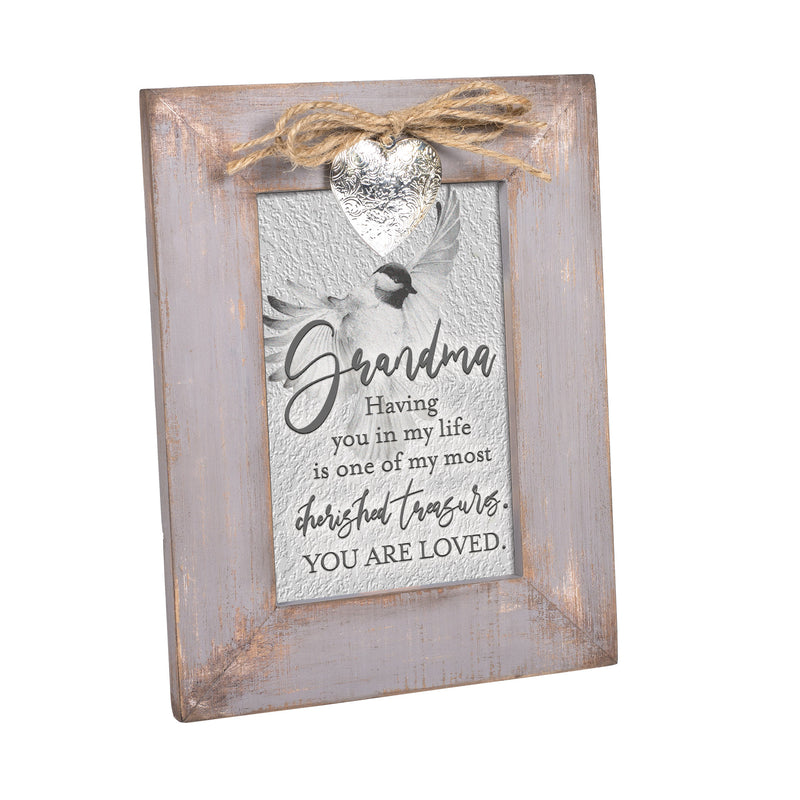 Grandma You Are A Treasure Grey Distressed Locket Easel Back Picture Frame