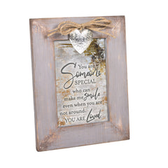 You Make Me Smile You Are Loved Grey Distressed Locket Easel Back Picture Frame
