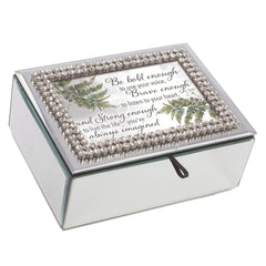 Be Bold Enough Classic White 8 x 6 Music Box Plays Tune You Are My Sunshine