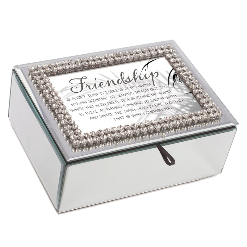 Cherish Friends Classic White 8 x 6 Music Box Plays Tune That's What Friends Are For