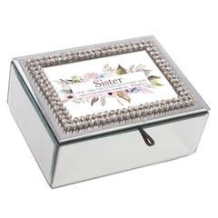 Sister Your Amazing Classic White 8 x 6 Music Box Plays Tune How Great Thou Art