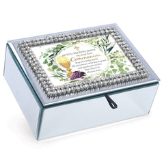 First Holy Communion Classic White 8 x 6 Music Box Plays Tune Ave Maria