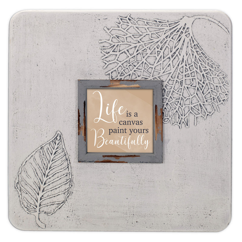 Life Canvas Paint Beautifully 16 x 16 Dandelion Impression Wall Art Sign Plaque, Large
