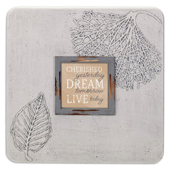 Cherished Dream Live 16 x 16 Dandelion Impression Wall Art Sign Plaque, Large