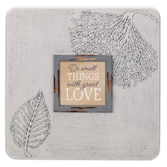 Small Things Great Love 16 x 16 Dandelion Impression Wall Art Sign Plaque, Large