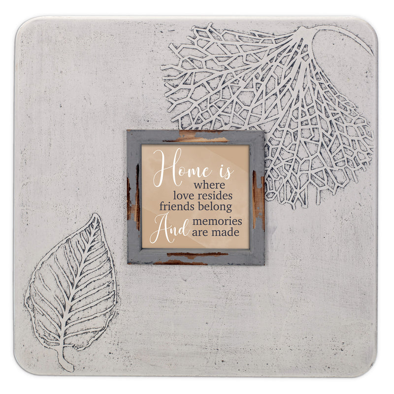 Home Is Where Love Resides 16 x 16 Dandelion Impression Wall Art Sign Plaque, Large